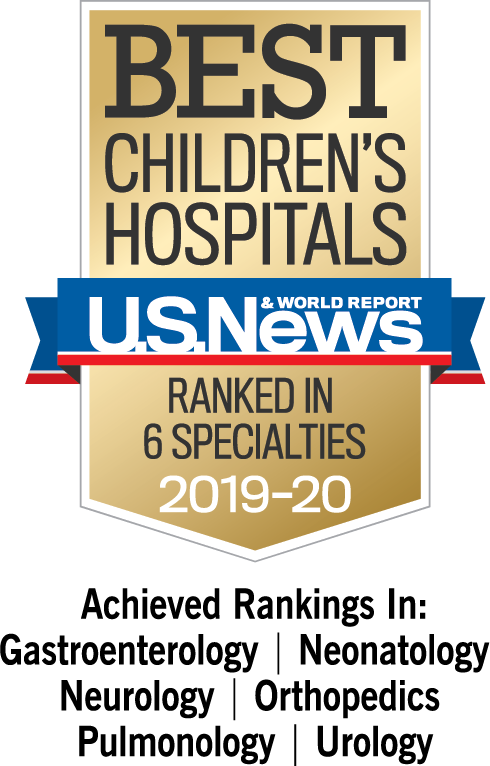 US News Best Children's Hospital 2019-20