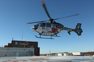 Air Bear pediatric transport helicopter