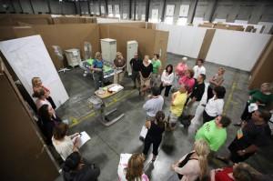 'Saving lives' in a mock trauma room