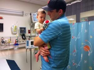 Chris comforts Bekah during her ER visit