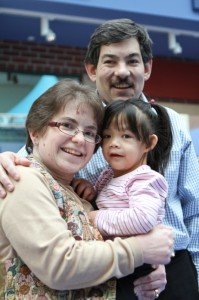 """Adoption, not birth, allow this mother-daughter to share a genetic bond (Photo Gallery) <small class=""""subtitle"""">Geneticist and young girl have Turner syndrome</small>"""