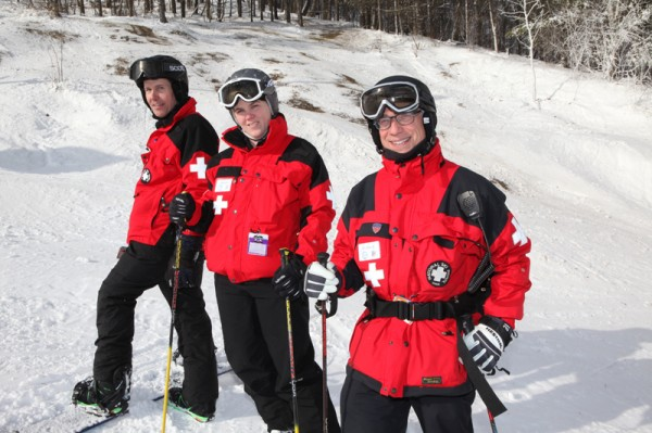 As members of the ski patrol at Boston Mills/Brandywine, Dr. Mike Bird, Nicole Green, RN, and Dr. Michael Spector rule the slopes.