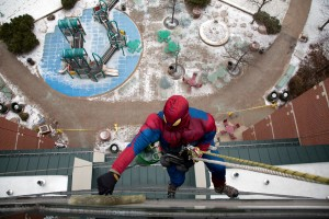 Spider-Man, friends drop in for the day (Photo Gallery and Video)