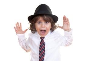 elementary-boy-goofing-off