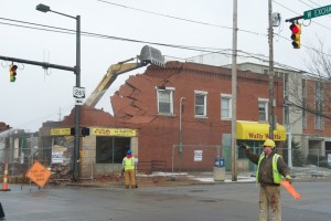 """Going, Going, Gone (Video) <small class=""""subtitle"""">Century building razed to make way for new critical care tower</small>"""