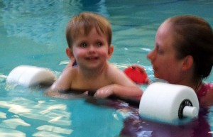 Jordan doing aqua therapy
