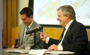 Senators Frank LaRose and Tom Sawyer not only work well together, but make each other laugh too.