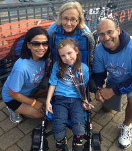 Staff races in honor of patient with cerebral palsy