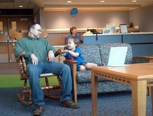 Austin-and-dad-in-waiting-room