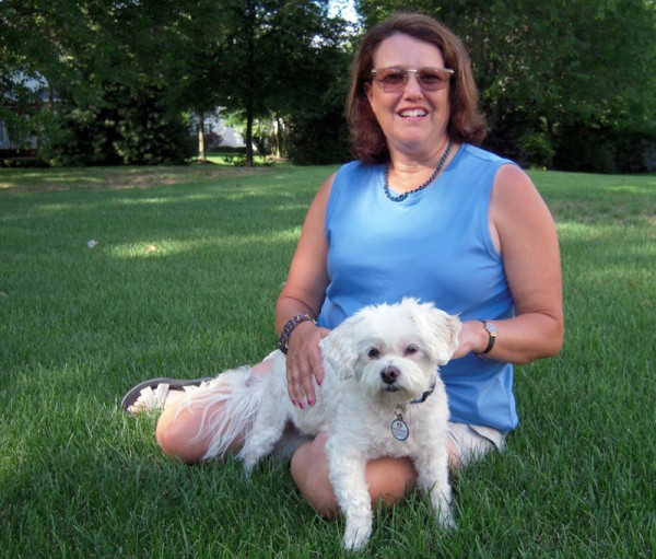 Sandy with Sharon in the summer of 2012.