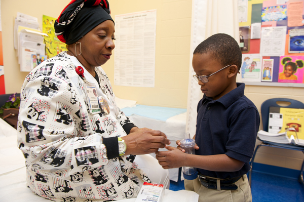 Patricia Teague-Jones is a state tested nurses aid at Akron's Schumacher Community Learning Center.