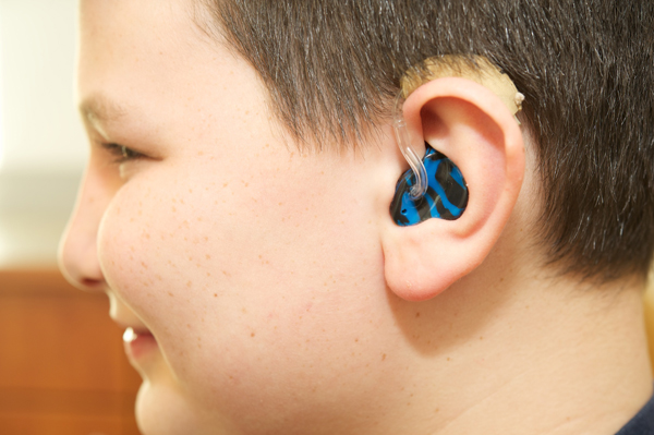 Joe Gavriloff wears hearing aids