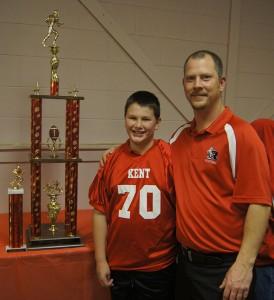 Joe with his coach Cecil Anderson