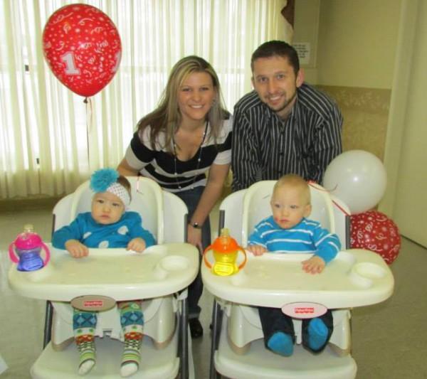 Blazosky family celebrates twins' 1st birthday