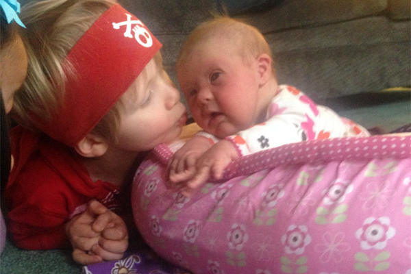 Big brother Landon thought Harper was a pirate after her eye surgery.