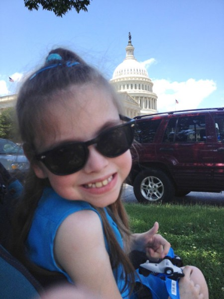 Not every kid gets such a close-up experience inside the U.S. Capitol.
