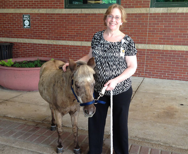 Jackie Fuller of IS finally meets Petie the Pony after 6 years
