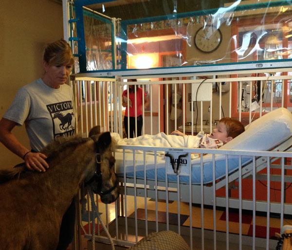 Petie the Pony visits Jacob Ott