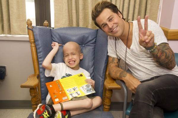 Jaiden was all smiles when singer Ryan Cabrera celebrated his birthday with him.