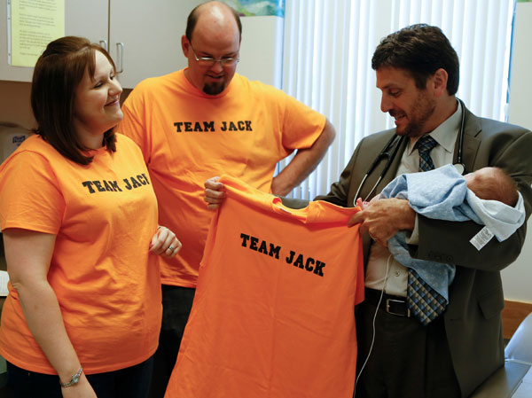 Lisa and her husband, Robert, invite Dr. Clark to join Team Jack.