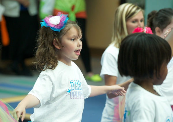 Dance Unlimited dancer Makenzie Yovanovich shows off her moves at the Expressive Therapy open house