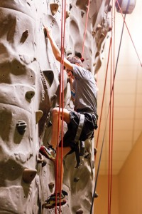 Andrew Testa climbing wall