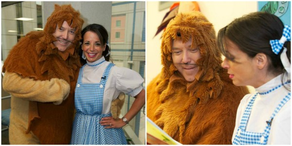 WKYC personalities Hollie Strano and John Anderson read to patients at Children's