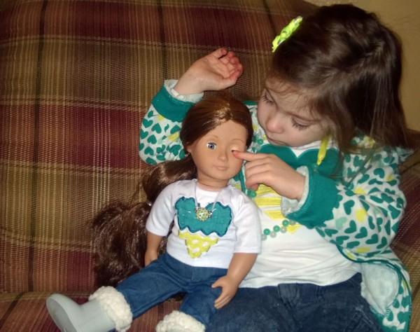 Bekah and American Girl doll