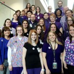 Akron Children's neurology team displays Purple Power for epilepsy awareness