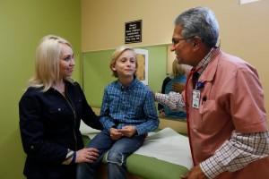 Ethan, Mom and Dr. Guru