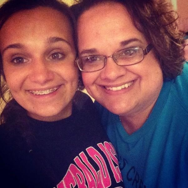 MacKenzie Meek with her daughter, Mattison