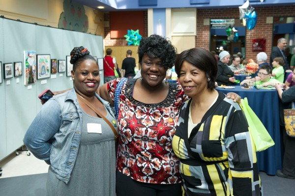 L-R: Shannon, NICU mom of A'Kira, and Kimberly and Dorothy, mom and grandmother of NICU patient Analise