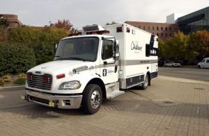 Akron Children's transport ambulance