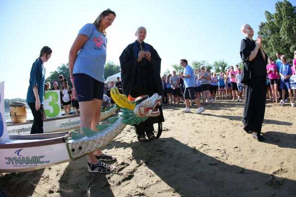 Opening ceremonies included a blessing of a boat.
