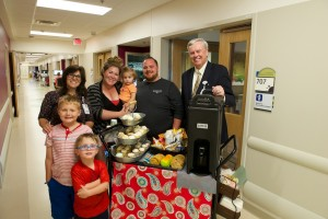 A cup of coffee, with a side of family-centered care