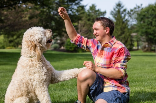 Today Joey is happy and healthy, and he loves playing outside with his dog, Duke.