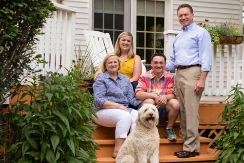 The Penko family: (from left) Sue, Mandy, Joey and Joe.