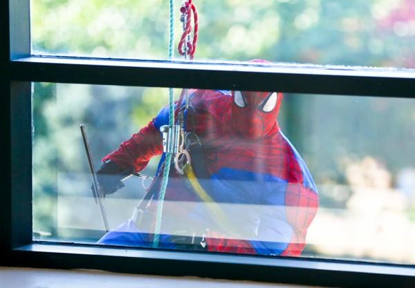 Superheroes swoop down on Akron Children's Hospital