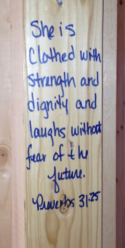 Bible verse on wall