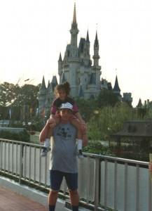 Dr. Susan Neilan with her dad at DisneyWorld