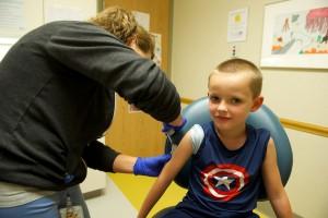 Colten getting allergy shot