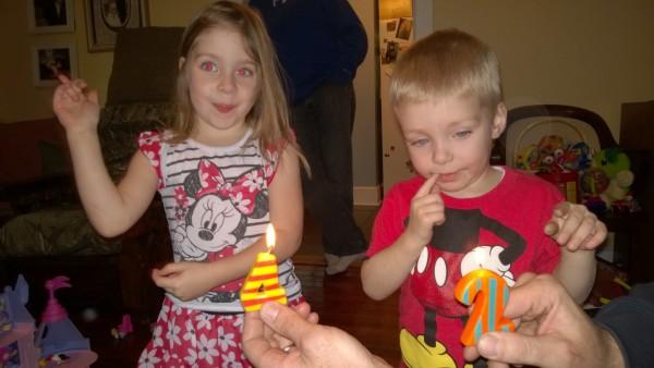 Bekah's birthday candles