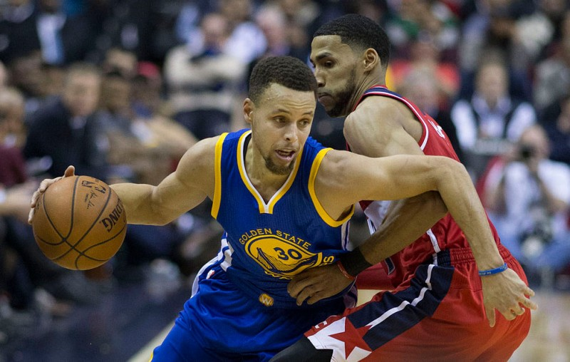 Steph Curry of Golden State Warriors against Washington Wizards. Photo: Wikipedia.