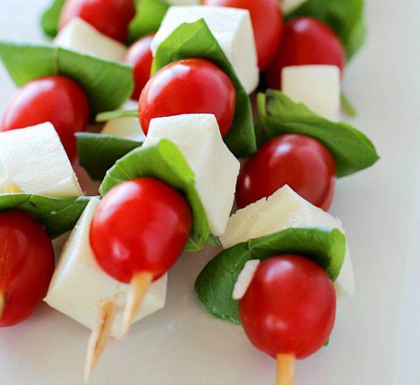 Recipe: Tomato Basil Caprese Skewers