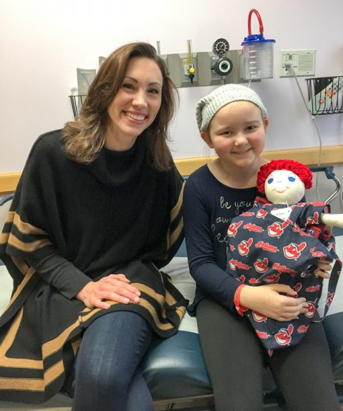 Cleveland Indians Terry & Tito Giving Dolls find homes at Akron Children's