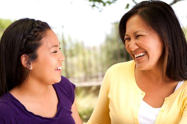 teen, mom talking