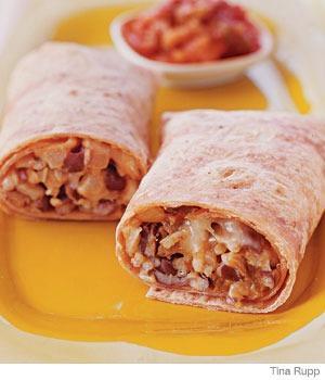 Recipe: rice and bean burritos