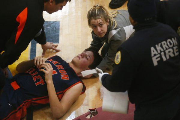 Basketball player rebounds from neck injury