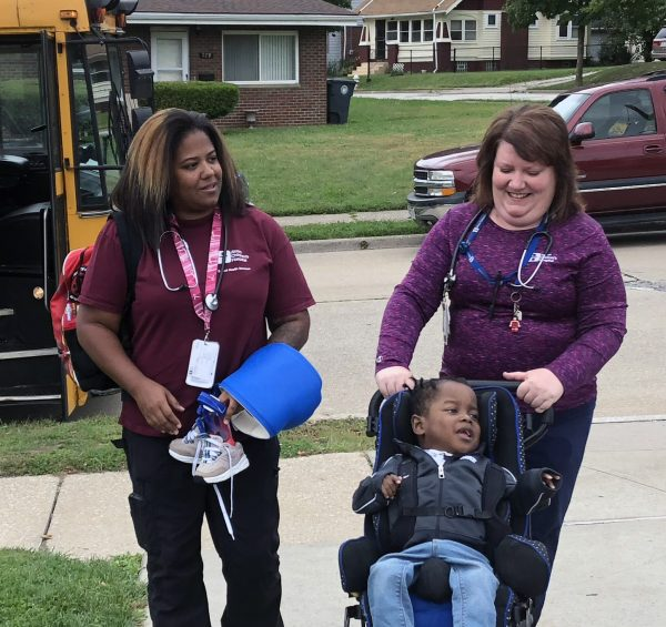 School Health helps 3-year-old boy with special needs enjoy a rite of childhood – the first day of school