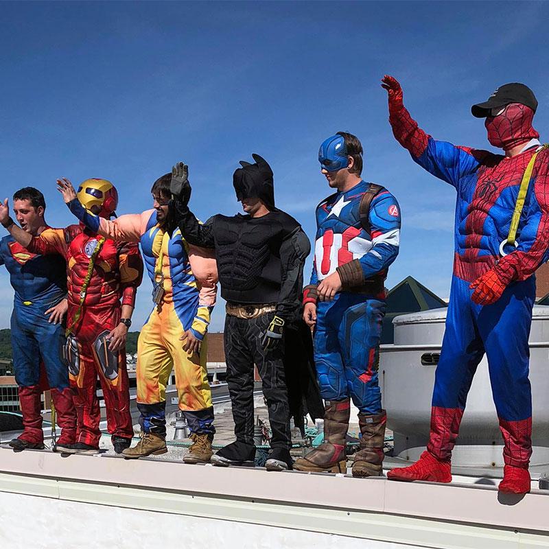 Superhero window washers